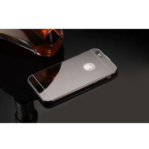 Mirror Bumper Metal Case Szary   Etui dla Apple iPhone 7 - Szary, kolor szary