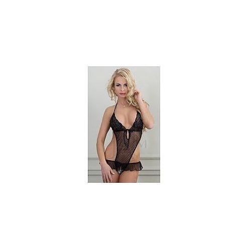 OKAZJA - SoftLine Body Lena Model: 1521 Black S/M Body czarne S/M, kolor czarny