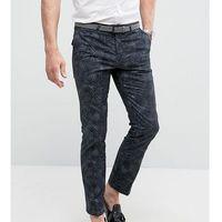 Noose & Monkey Super Skinny Smart Trousers In Print - Grey