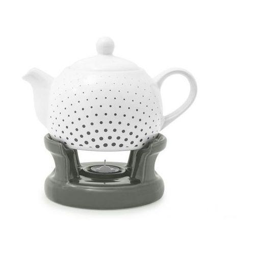 Dzbanek na podgrzewaczu imbryk kropki do herbaty marki Home