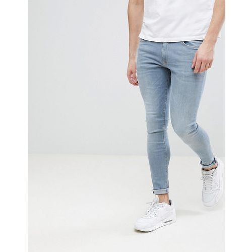 River Island Super Skinny Jeans In Mid Wash - Blue, kolor niebieski
