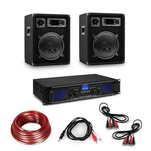 Electronic-star wzmacniacz hi-fi & kolumny, 3-częściowy zestaw: wzmacniacz cyfrowy, głośniki, kable