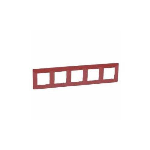 Legrand niloe ramka pięciokrotna czerwona 665025 (3245066650258)