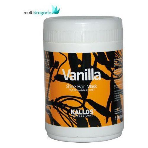 Kallos Vanilla Shine Hair Mask 1000ml W Maska do włosów do włosów suchych (5998889505943)