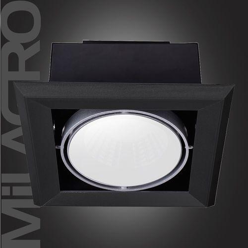 Plafon oprawa wpuszczana lampa sufitowa downlight Milagro Blocco 1x7W LED czarny 472 (5907377244721)
