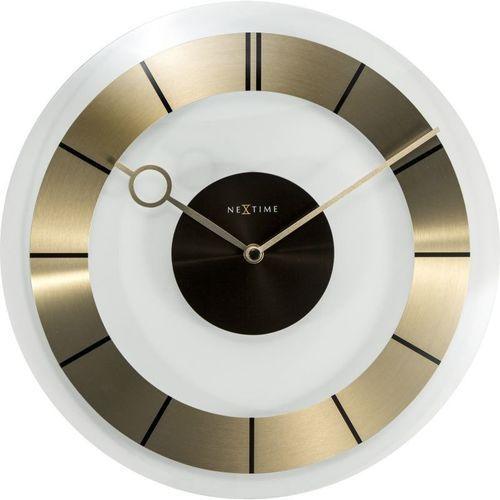 NeXtime - Zegar ścienny Retro - złoty - 31 cm, kolor żółty