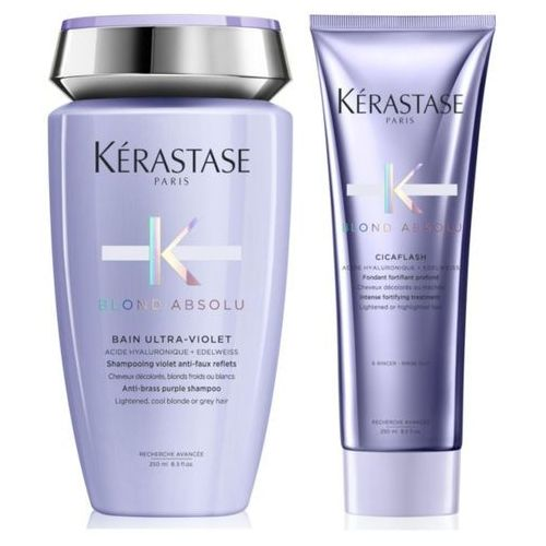 Kerastase blond absolu ultra-violet bain 250ml + kerastase blond absolu cicaflash 250ml marki Kérastase