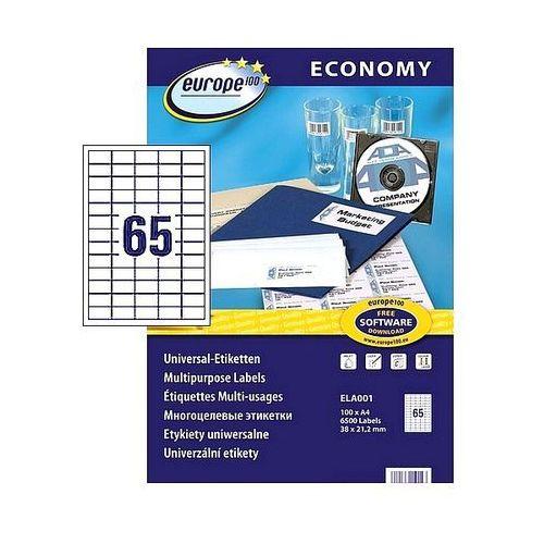 Etykiety samoprzylepne Economy Avery Zweckform 38x21,2mm białe 100 ark. A4, ELA001
