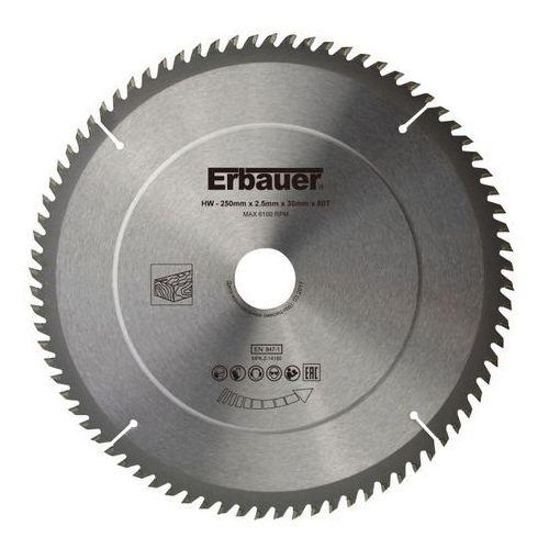 Erbauer Tarcza do drewna 250 x 30/25/20/16 mm 80t (3663602813118)