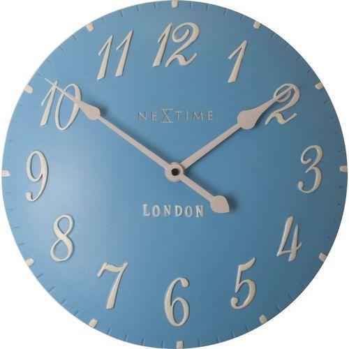 Nextime - zegar ścienny london arabic - niebieski