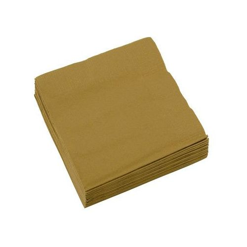 Serwetki złote - 25 cm - 20 szt. (0013051433543)