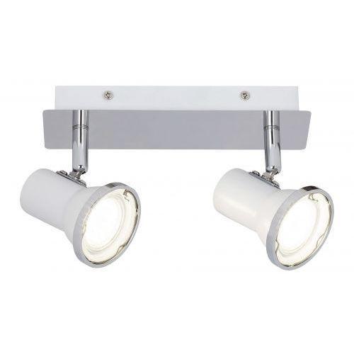 Plafon steve 5498 lampa sufitowa łazienkowa 2x15w gu10 led ip44 biały / chrom marki Rabalux