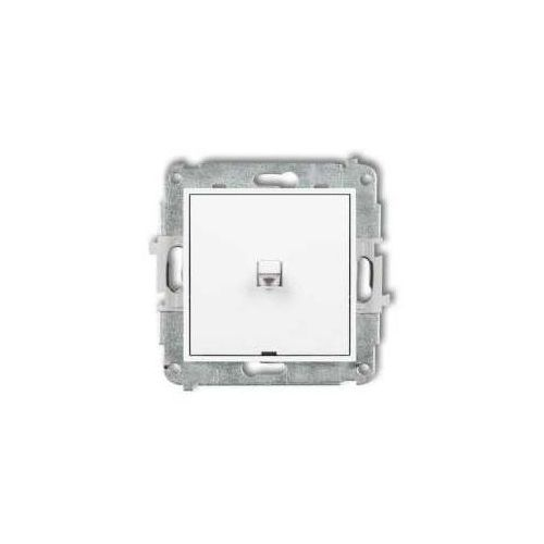 Przycisk pojedynczy dźwigniowy Karlik Mini MWPUS-4.1 podtynkowy biały, MWPUS-4.1