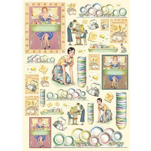 Papier klasyczny do decoupage 50x70 cm - 364 marki Stamperia