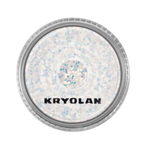 Kryolan POLYESTER GLIMMER COARSE (PEARL WHITE) Gruby sypki brokat - PEARL WHITE (2901)