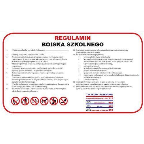 REGULAMIN BOISKA SZKOLNEGO - DUŻY - PCV 30X50