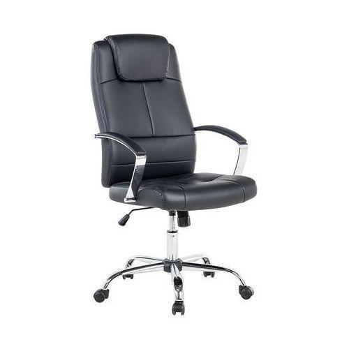 Beliani Krzesło biurowe czarne regulowana wysokość winner (7081453512701)
