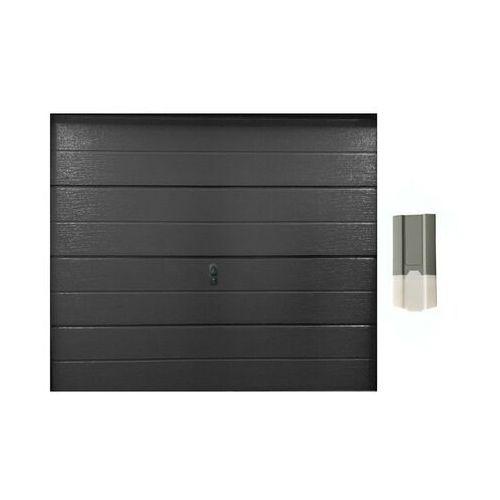 ZESTAW brama garażowa segmentowa gładka BALIDO antracytowy + napęd ECO LINE