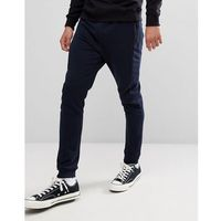 Stradivarius Panelled Joggers In Navy - Navy, kolor szary
