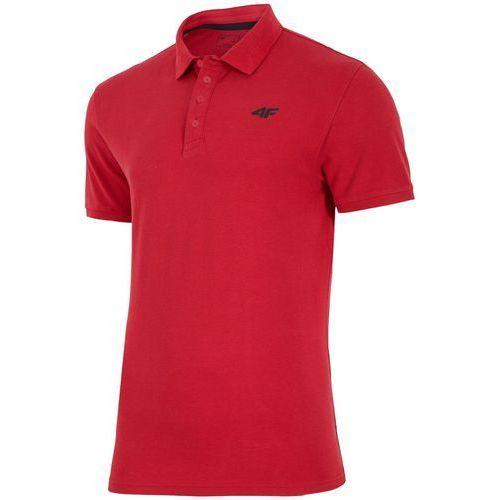 4f Męska koszulka polo h4l18 tsm024 czerwony m