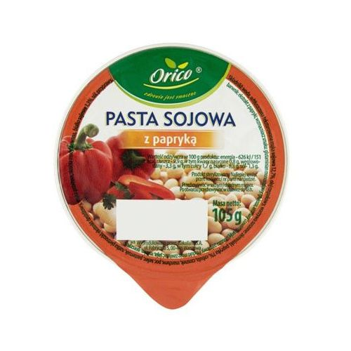 Orico 105g sojowa pasta kanapkowa z papryką