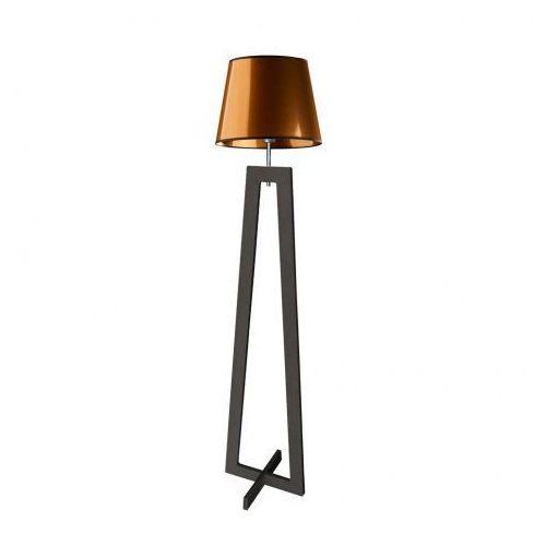 Drewniana lampa podłogowa z abażurem kos mirror marki Lysne
