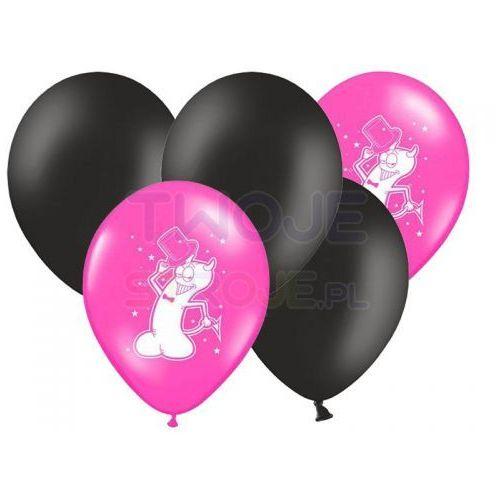 Zestaw balonów gorączka panieńskiej nocy czarno-róż 30cm 5szt marki Twojestroje.pl