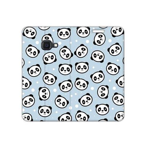 Samsung galaxy xcover 4s - etui na telefon flex book fantastic - panda na niebieskim tle marki Etuo flex book fantastic