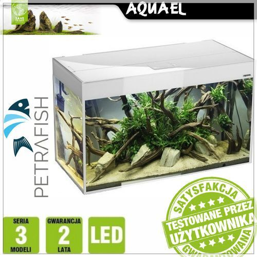 Aquael GLOSSY 120 260L 120x40x63 3 x 18W LED RetroFit BIAŁY - Zestaw akwariowy profilowany prosty - sprawdź w wybranym sklepie
