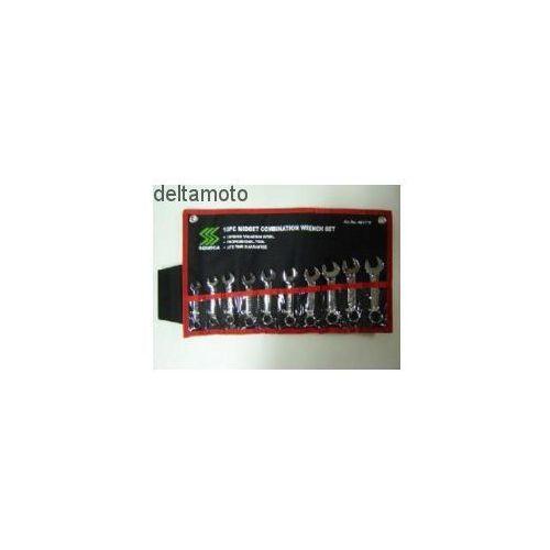 Zestaw kluczy płasko-oczkowych, krótkich, 10 sztuk, 481710