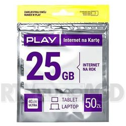 internet na rok 50pln marki Play