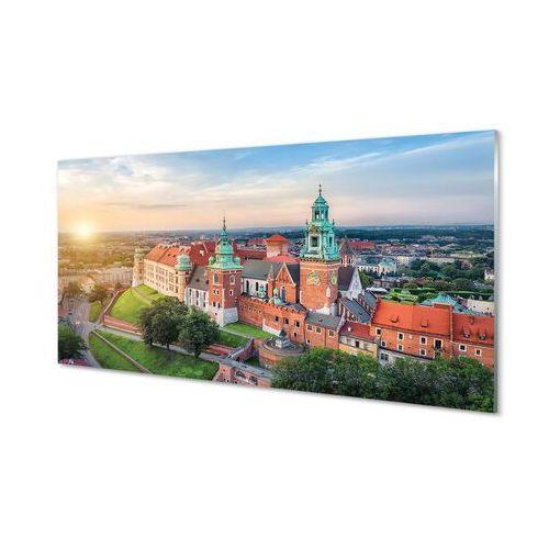 Obrazy na szkle kraków zamek panorama wschód słońca marki Tulup.pl