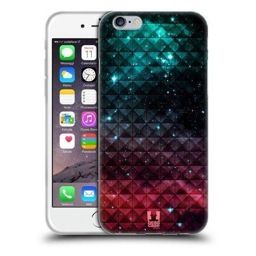 Etui silikonowe na telefon - Studded Ombre Printed Sparkling Red And Blue