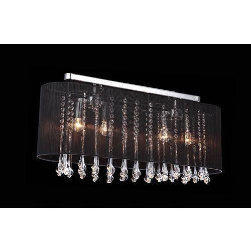 Plafon LAMPA sufitowa ISLA MXM1870-4 BL Italux abażurowa OPRAWA kryształowa glamour crystal czarna