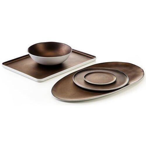 Talerzyk deserowy, porcelanowy, postarzana miedź eter verlo 12 cm (v-85007-6)