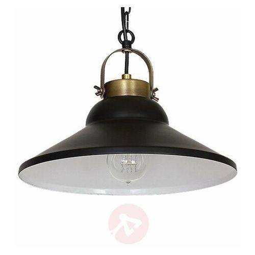 Luminex Lampa wisząca iron black 1 6207 lampa sufitowa 1x60w e27 czarny / mosiądz