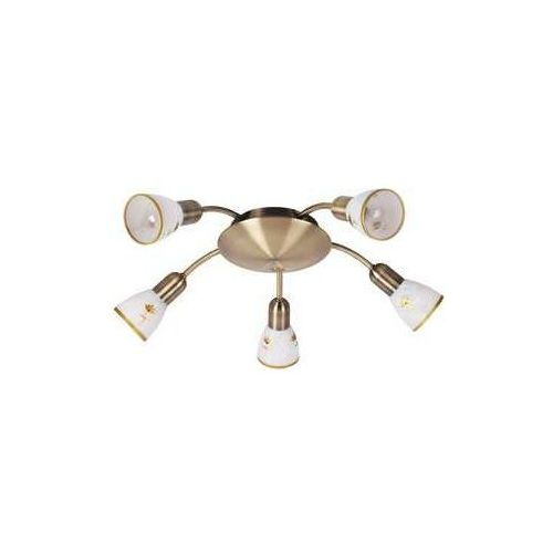Plafon lampa sufitowa Rabalux Art Flower 5x40W E14 brąz 6360
