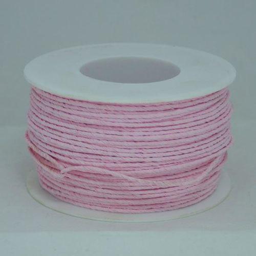 Ozdobny sznurek papierowy z drutem - różowy jasny - różjas marki Creativehobby
