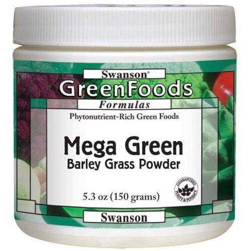 Swanson Mega green barley grass (sproszkowany sok z młodej trawy jęczmienia) 150gram, kategoria: pozostałe zdrowie
