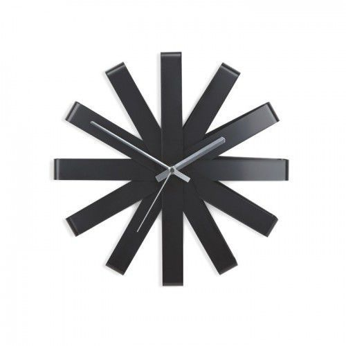 Zegar ścienny Ribbon czarny Umbra, 118070-040