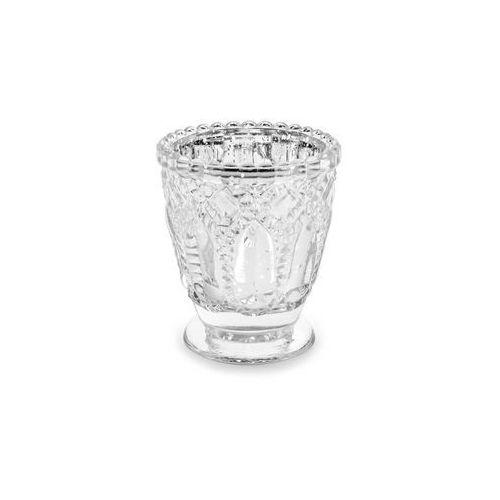 Świeczniki szklane - srebrne - 8 cm - 4 szt. (5900779111820)