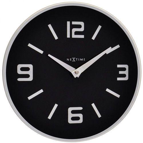 Nextime Zegar ścienny shuwan 43 cm, czarny (8148 zw)