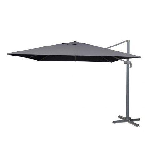 parasol ogrodowy boczny roma sq 3m, szary marki Makers