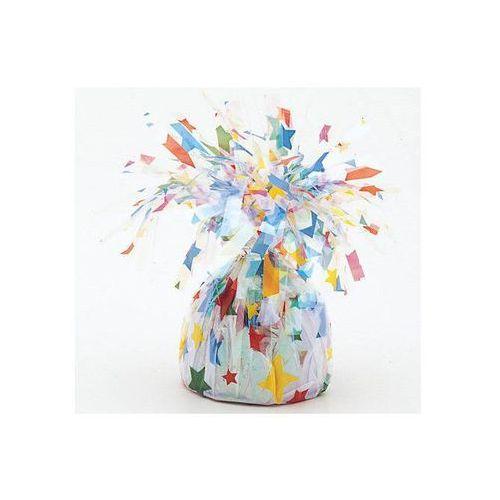 Obciążnik foliowy do balonów napełnionych helem - gwiazdki - 176 g. marki Unique