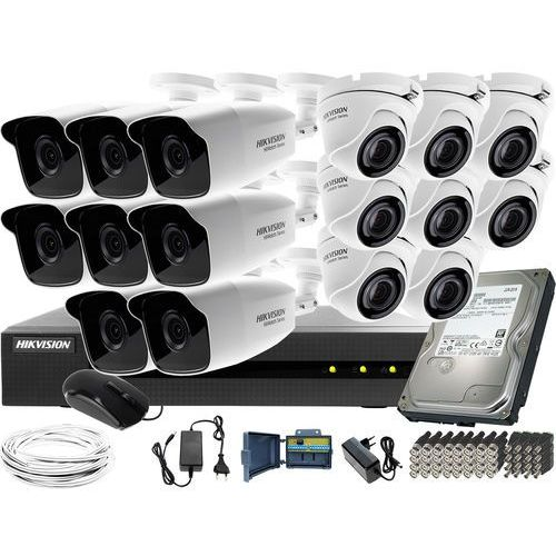 Hikvision hiwatch Zestaw do monitoringu 16 kamer hwd-6116mh-g2 dysk twardy 1tb akcesoria