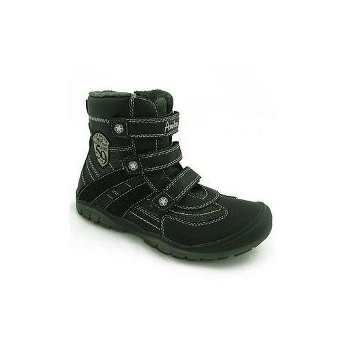 Kozaki dziecięce czarne 97088 Black/Grey American Club czarny 32