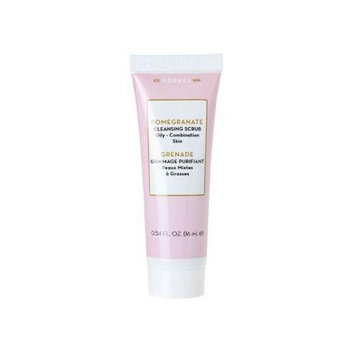 _pomegranate cleansing scrub oily/combination skin peeling 16ml marki Korres