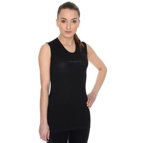 Koszulka unisex typu base layer bez rękawów S Czarny