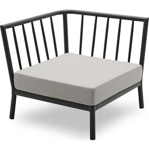 Fotel modułowy narożnikowy Tradition szary, 1505931