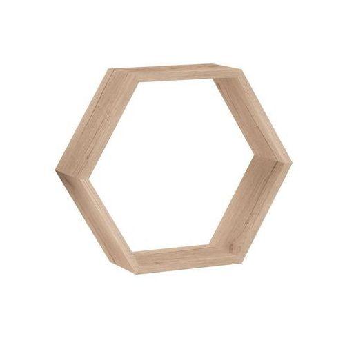 Półka ścienna HEXAGON drewno 30 x 26 cm SPACEO